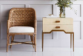 Rattan Chair and Side Table